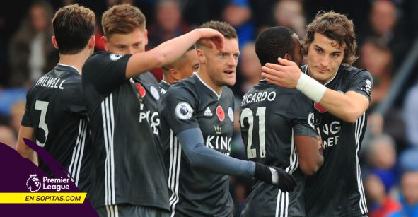 Leicester se pone a 2 del Manchester City tras vencer al Crystal Palace