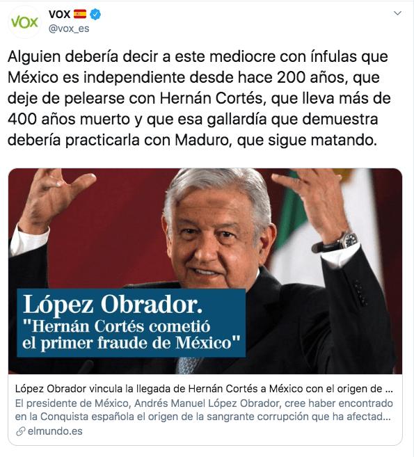 vox-partido-politico-espana-mediocre-amlo-hernan-cortes