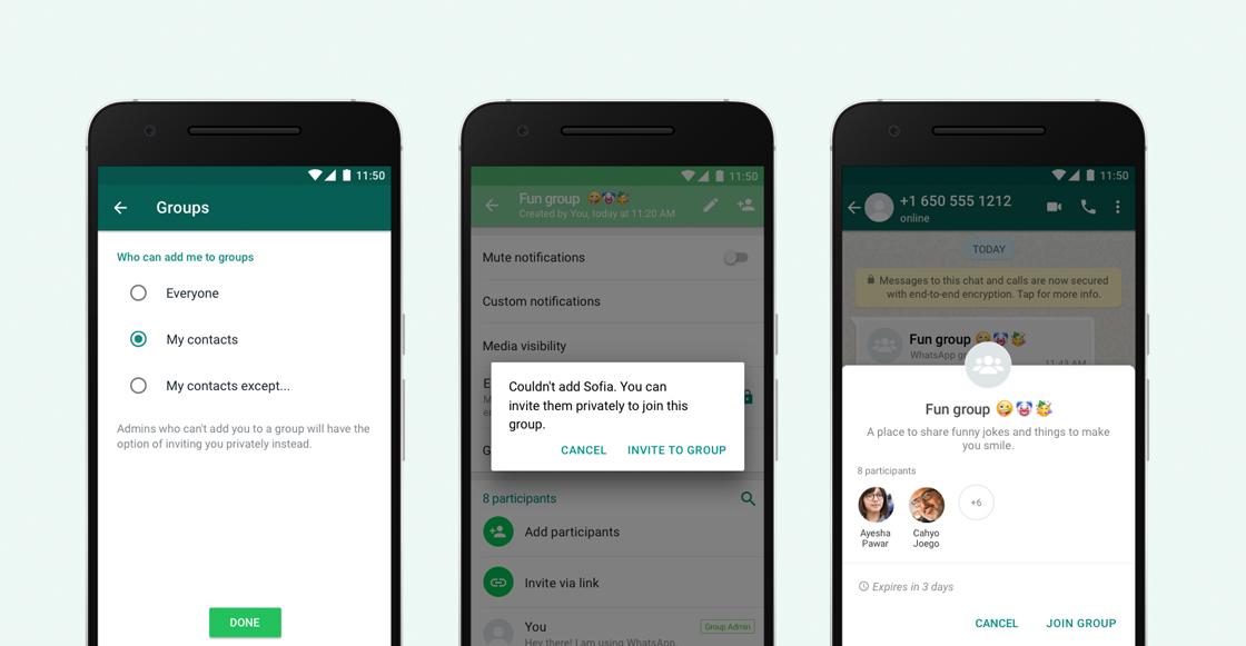 WhatsApp ya te deja controlar quién puede añadirte a un grupo