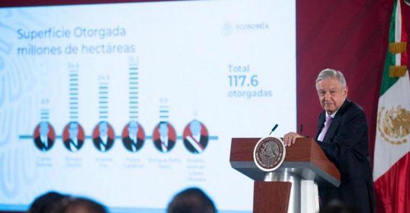 AMLO acusa a Calderón de concesionar mayor territorio a mineras