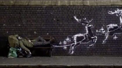 Banksy muestra el poder de la navidad en su nueva obra 'God bless Birmingham'