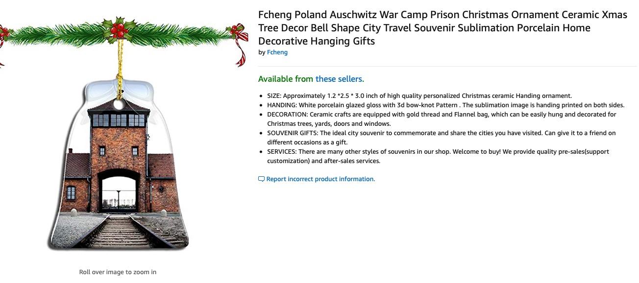 ¿Pues a quién se le ocurre? Retiran productos navideños alusivos a Auschwitz en Amazon por críticas del Museo oficial