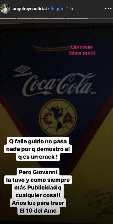 Tssss: El mensaje de Ángel Reyna a Giovani dos Santos