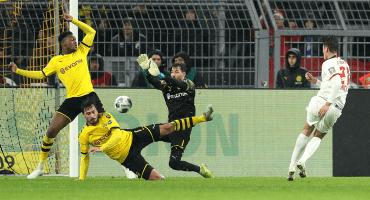 De alarido: Leipzig rescató el empate en Dortmund para mantenerse líder de la Bundesliga