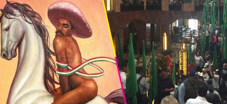 Manifestación-Emiliano-zapata-pintura-gay