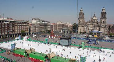 Ahí pa' la otra: Hay 38 mil reservaciones para patinar en pista del Zócalo