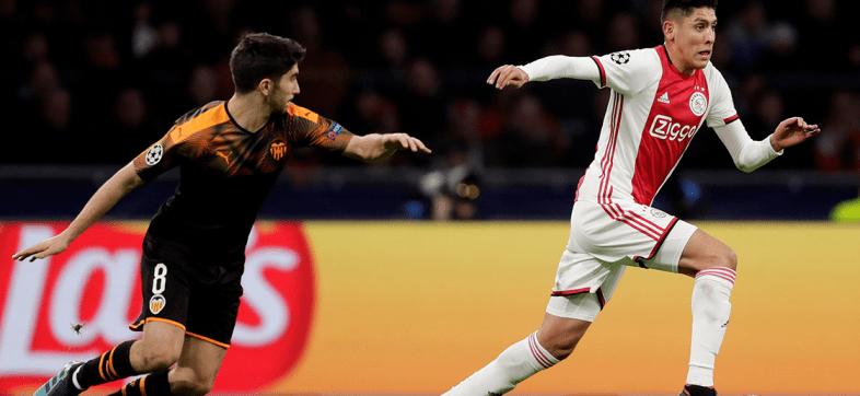 Edson jugó 45, fue amonestado y el Ajax quedó eliminado de la Champions League