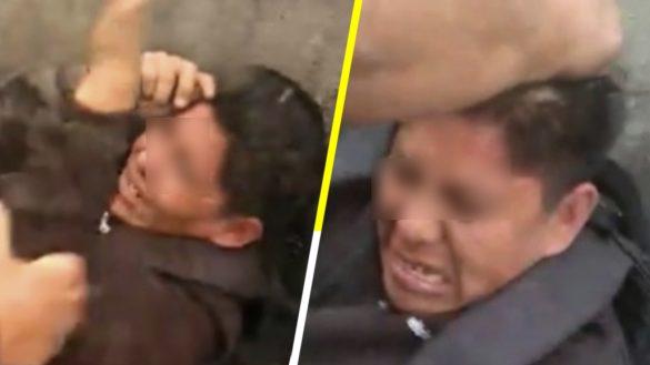 """""""Da la cara, voltea para que esto lo vea tu familia"""": Presunto agresor sexual es golpeado en el Estado de México"""