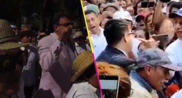Igualitos: En AMLOFest y marcha AntiAMLO agreden a periodistas Irving Pineda y Hernán Gómez