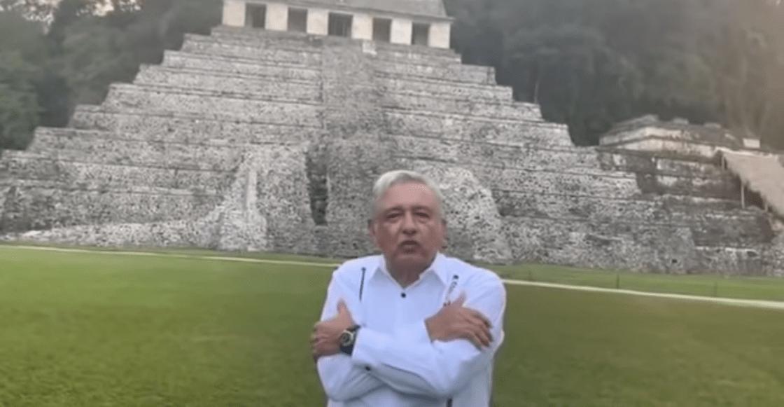 Desde Palenque, AMLO envía felicitación por Año Nuevo