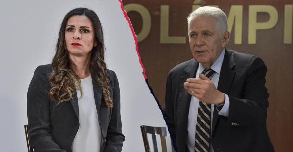 ¡Hay tiro! Ana Guevara y Carlos Padilla se vuelven a agarrar del chongo