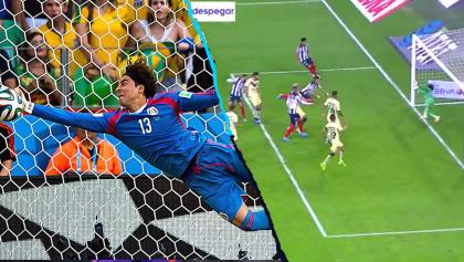 Las comparaciones del atajadón de Ochoa: Lo que no se vio en la Final Monterrey vs América