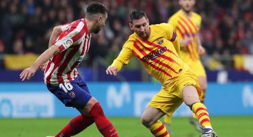 Messi le da el triunfo al Barcelona ante el Atlético de Héctor Herrera a cinco del final