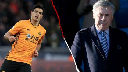 Raúl Jiménez está en la mira de Ancelotti para sacar al Everton de su crisis