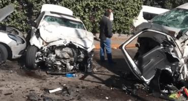 Choque entre combi y un BMW deja varios heridos en Avenida Conscripto