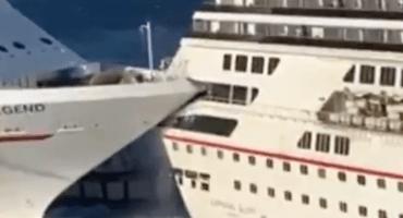 ¿Sale con polish? Cruceros cargados de pasajeros chocan en Cozumel