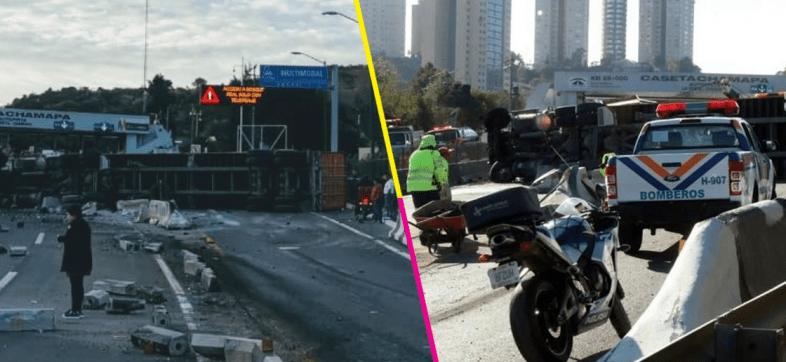 choque-trailer-Autopista-Chamapa-Lechería