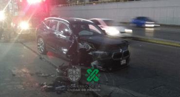 Camioneta BMW choca en Circuito Interior a la altura de Río de la Plata