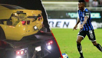 Jugador del Querétaro sufrió aparatoso accidente automovilístico