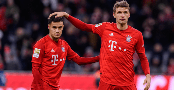 Coutinho juega con playeras réplica de niño en lugar de las originales del Bayern Munich