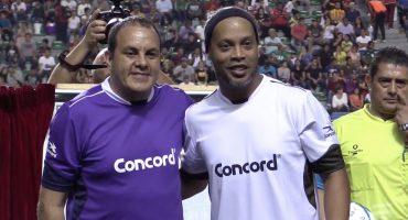 Las palabras de Cuauhtémoc Blanco a Ronaldinho tras su partido de despedida