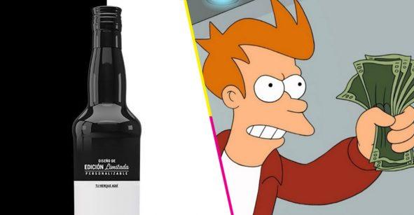 destacada whisky mensaje botella personalizada