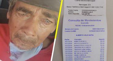 ¡Sí se pudo! Gracias a Internet, Don Beto ha logrado juntar el dinero para pagar la deuda de 20 mil pesos