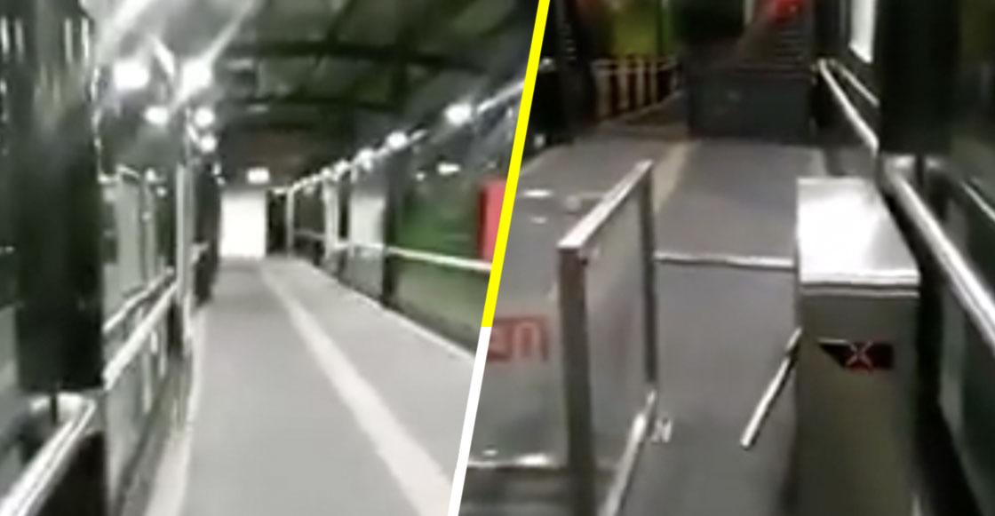 OLOV: Captan supuesto fantasma saliendo de los torniquetes del Metrobús en CDMX