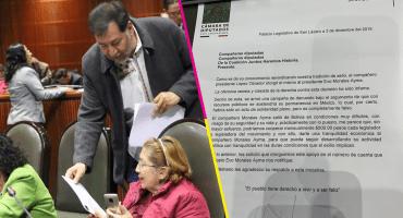 Fernández Noroña formaliza su propuesta de 'coperacha' a Evo Morales