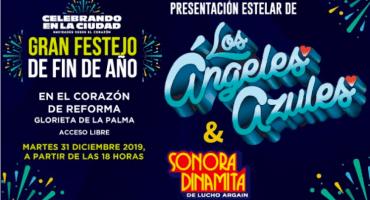 A cerrar el año con Los Ángeles Azules y La Sonora Dinamita en Reforma