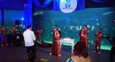 Director del Acuario de Veracruz realiza fiesta privada en el lugar; acusan de provocar posible daños a los animales
