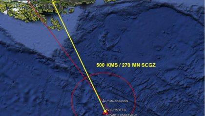 Fuerza Aérea de Chile informa que fueron encontrados posibles restos de aeronave siniestrada
