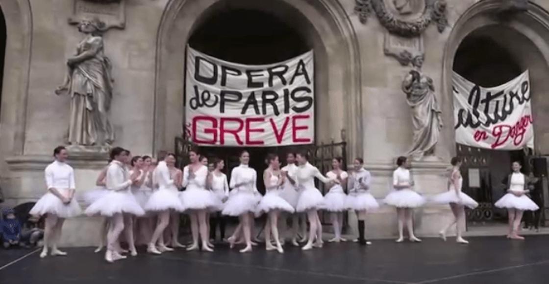Bailarinas de la Ópera de París protestan contra la reforma al sistema de pensiones