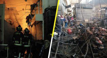 Las fotos y los videos para dimensionar el incendio en el mercado de La Merced