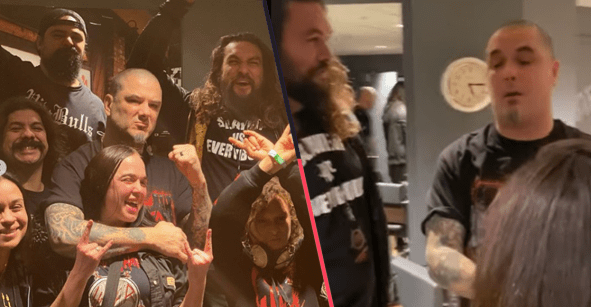 Crossovers prrones: Jason Momoa sube al escenario para tocar con Phil Anselmo un cover de Pantera
