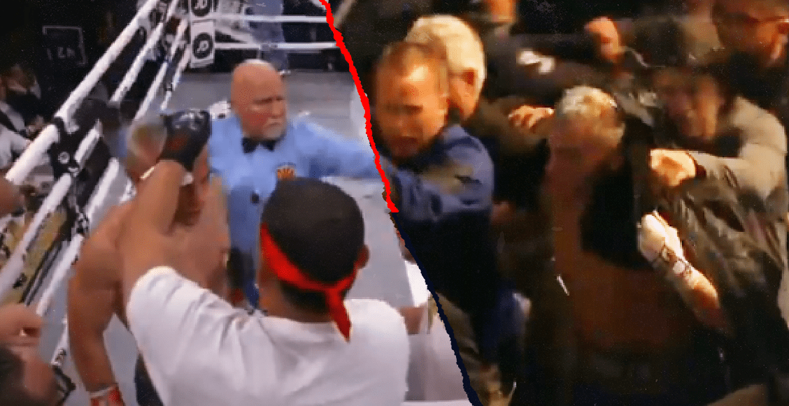Lanzan objetos a Julio César Chávez Jr. tras KO técnico ante Daniel Jacobs