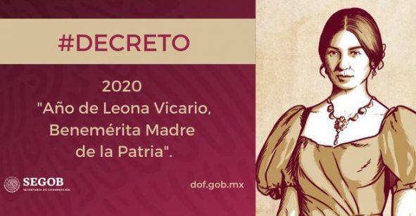 El 2020 será año de Leona Vicario, 'Benemérita Madre de la Patria'