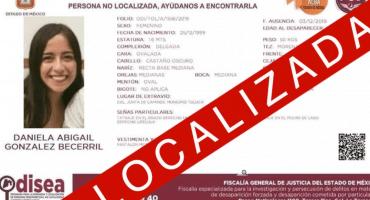 Localizan con vida a estudiante de la UAEM desaparecida en Toluca