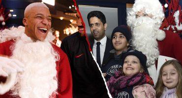 Mbappé se disfrazó de Santa Claus para convivir con pequeños fans del PSG
