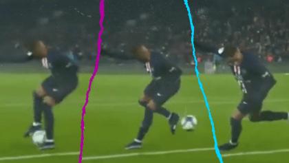 El golazo de taquito de Mbappé con el PSG frente al Nantes