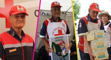 Un verdadero héroe: Murió el voluntario más grande del 19-S a los 92 años