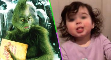 Esa versión no la hemos visto: Esta niña no puede decir 'El Grinch' y termina llamándolo 'b*tch'