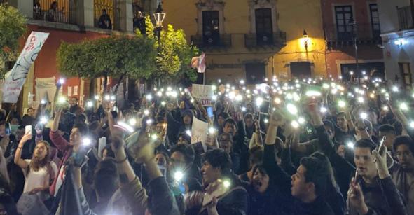 Funcionarios de la Universidad de Guanajuato renuncian tras jornada de protestas