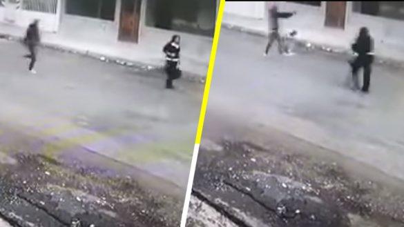 Suaves superhéroes: Dos perritos salvan a mujer de ser asaltada