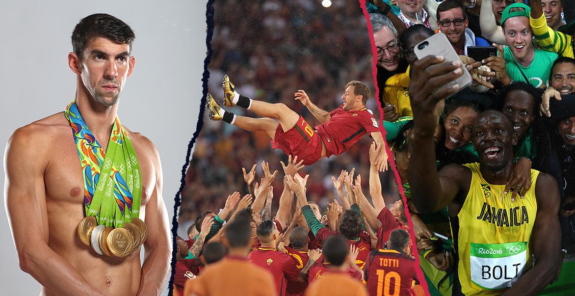 Phelps, Bolt, Totti, Márquez, Ronaldo: Los retiros que marcaron la década en el deporte