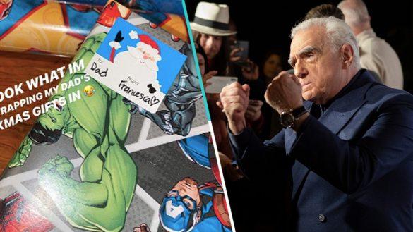 Martin Scorsese recibió regalos navideños envueltos en papel de Marvel