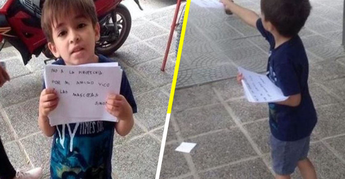 ¡Héroe! Niño de 6 años crea campaña contra la pirotecnia para ayudar a amigo con autismo y a las mascotas