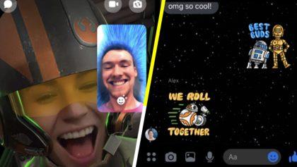 Para unirte al lado oscuro: Facebook lanza un tema de 'Star Wars' para Messenger y acá te decimos de qué va