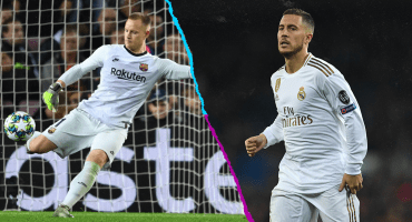 Ter Stegen llegará al clásico Barcelona vs Real Madrid con más asistencias que Hazard