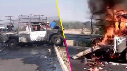 Tráiler choca contra una camioneta de peregrinos en la carretera México-Pachuca